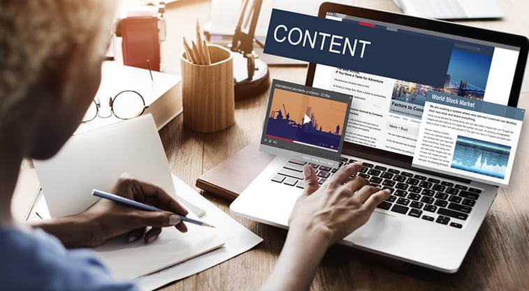 webiste content elements