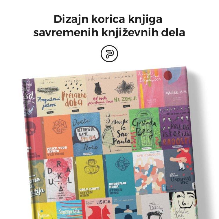Dizajn korica knjiga savremenih književnih dela