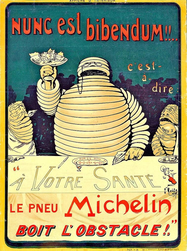 michelin poster 1898 michelin man