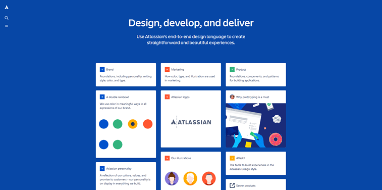 Atlassian design language system screenshot