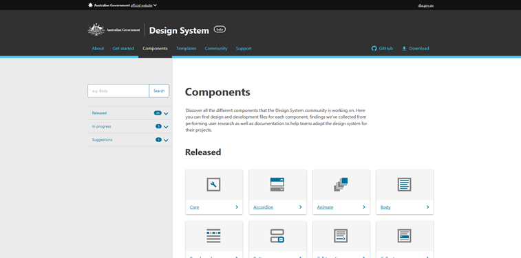 20 great design system examples from Design Systems Repo