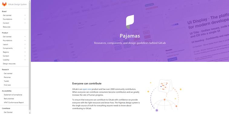 GitLab Pajamas open source design system