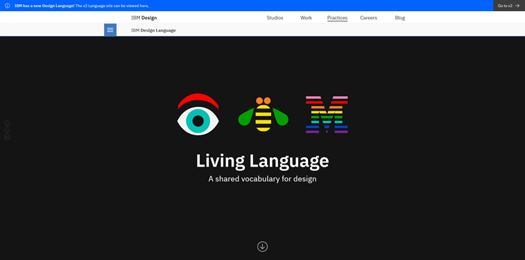 IBM design language homepage