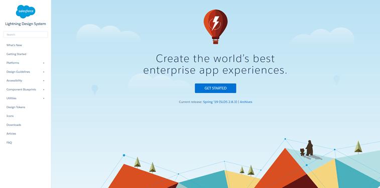 Salesforce Lightning design system screenshot