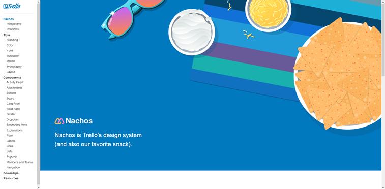 Trello Nachos design System screenshot
