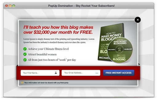 WordPress plugin PopUp Domination