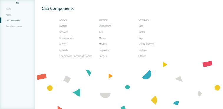 Zendesk garden system CSS components screenshot