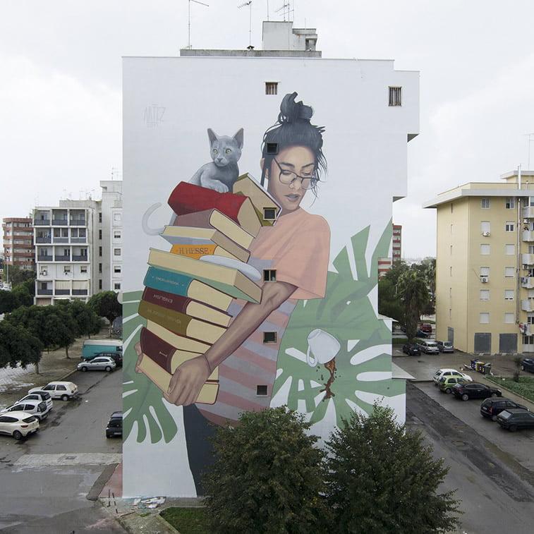 artez bookworm italija street art