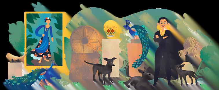 google doodle dolores olmedos 110th birthday