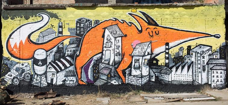 resto foksi grafit street art