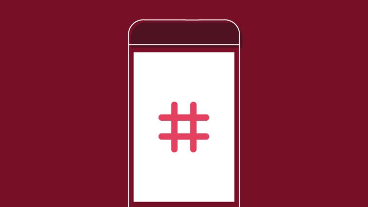 instagram grafika hashtag ilustracija