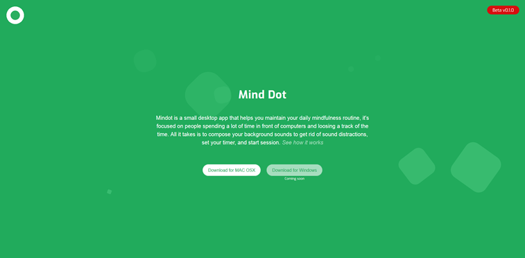 mind dot mindfulness aplikacija beta