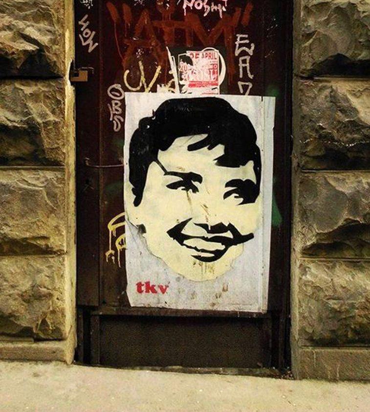 odri hepbern grafit tkv street art