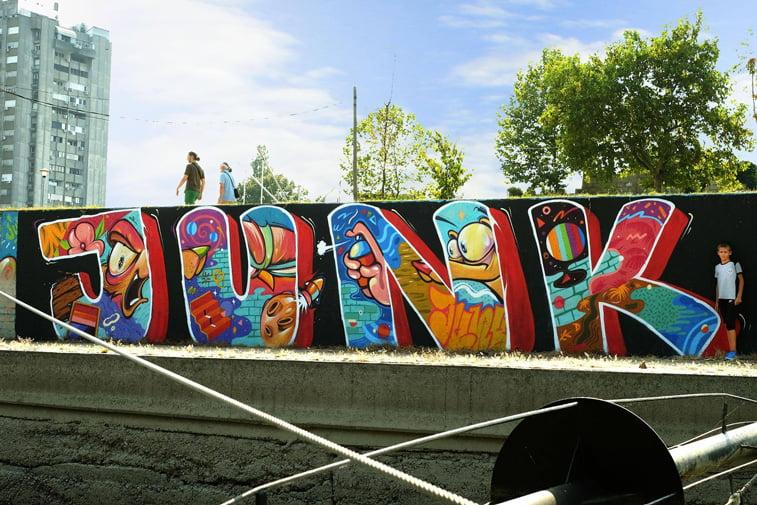 junk natpis zemunski kej street art