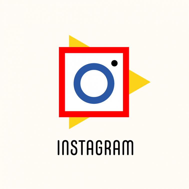 instagram logo u stilu bauhausa
