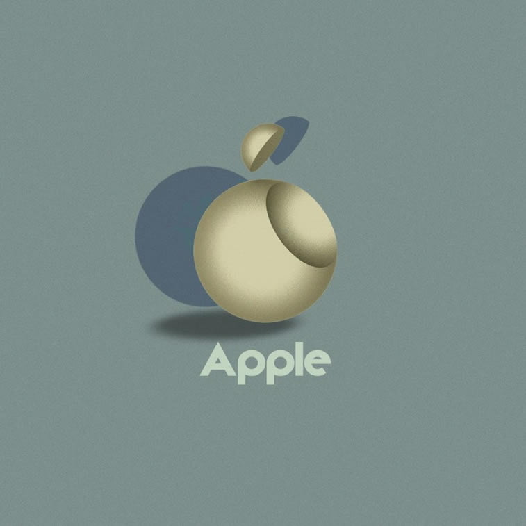 apple logo bauhaus stil