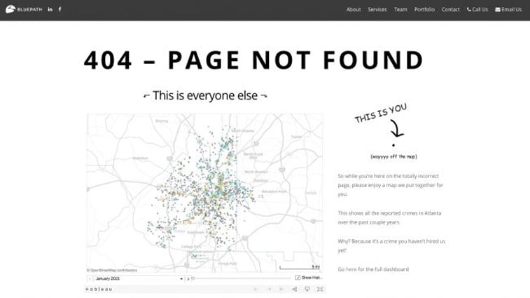 bluepath map 404 design