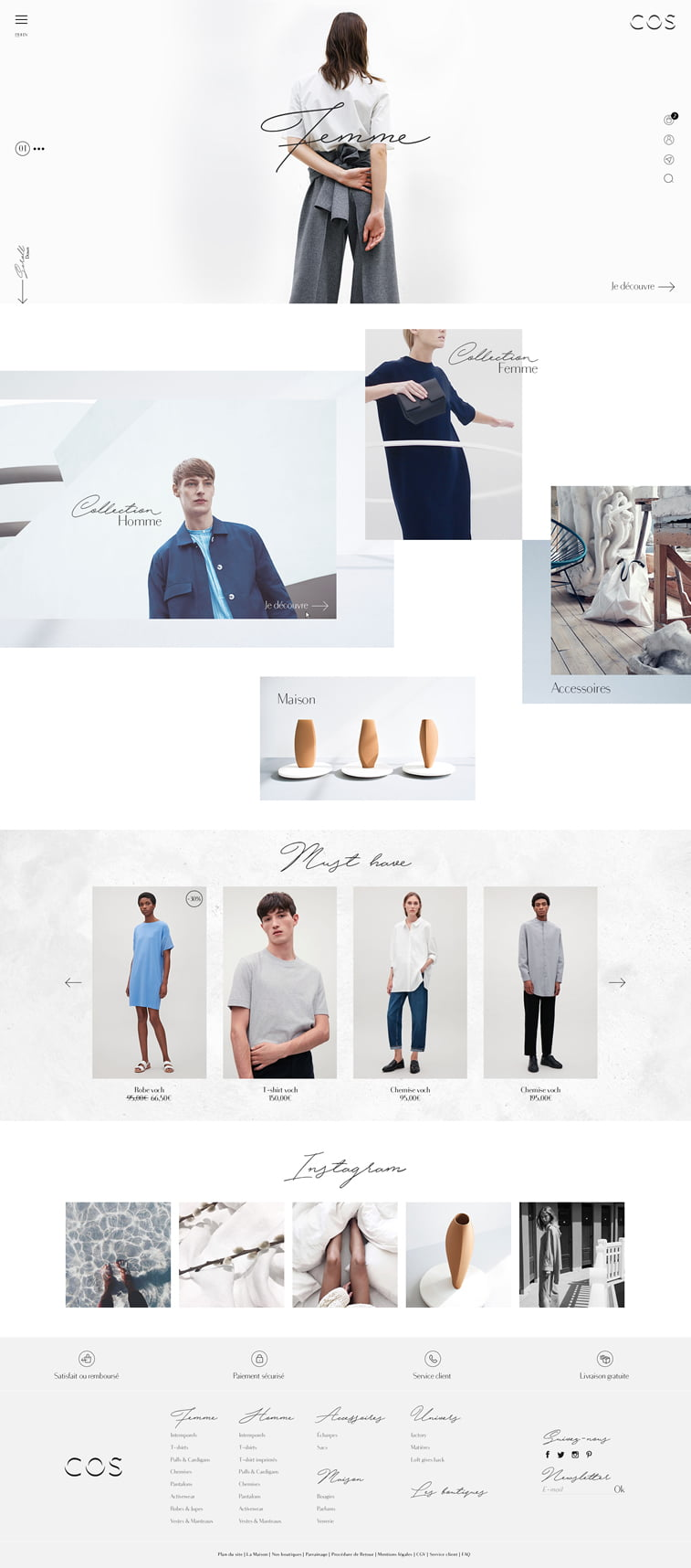 COS ecommerce website redesign concept