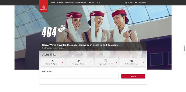 emirates 404 error page design stuarts photo