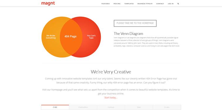 magnt page not found 404 design vene diagram