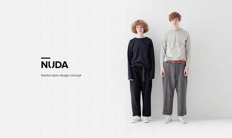NUDA Fashion Store homepage design concept