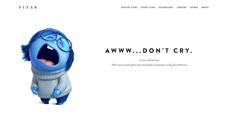 Pixar Animation Studios 404 inside out