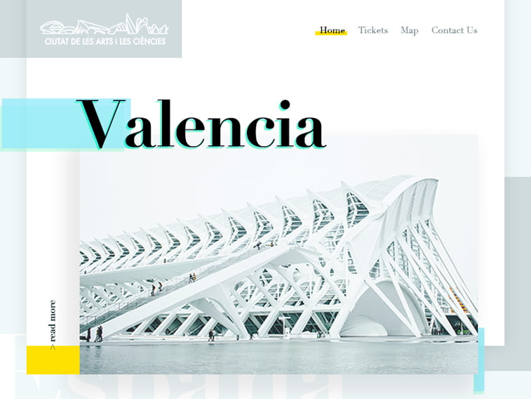 Valencia City of Arts - Redesign Landing Page Concept