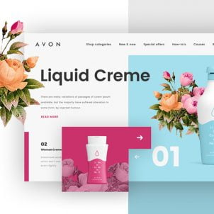 Excellent examples of website redesign concepts