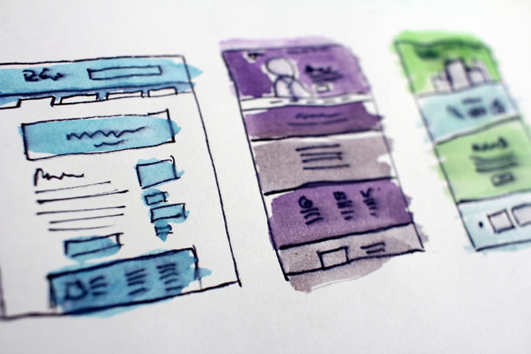 drawings of landing pages