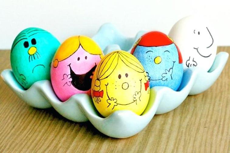 uskrsnja jaja sa likovima