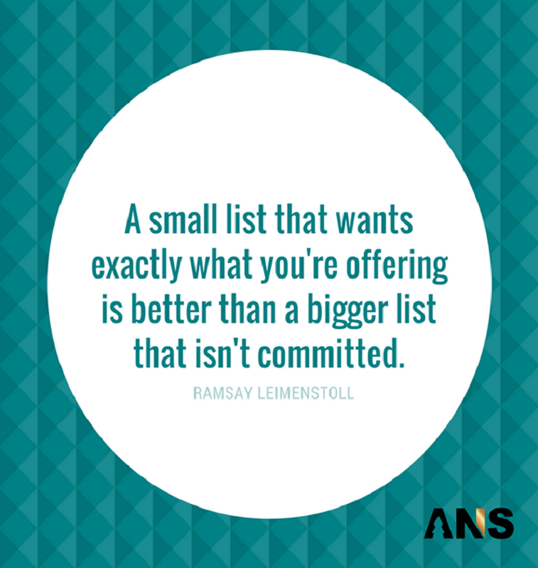 email marketing quote ANS