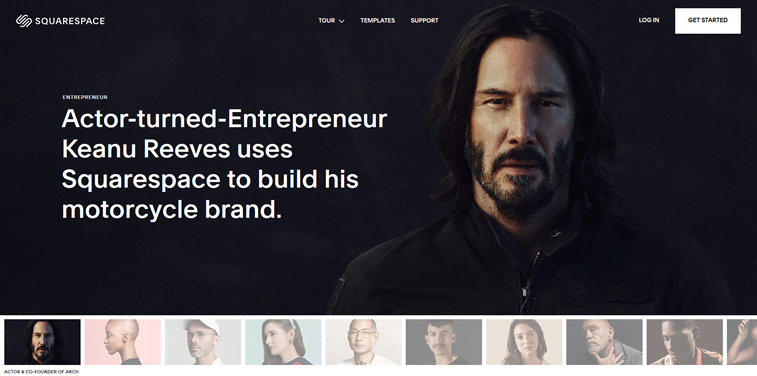 keanu reeves website squarespace
