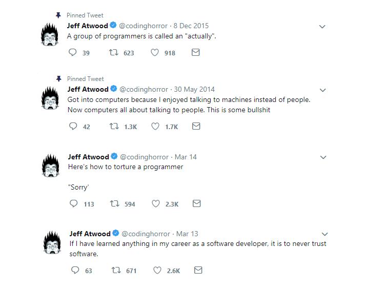 jeff atwood twitter profile