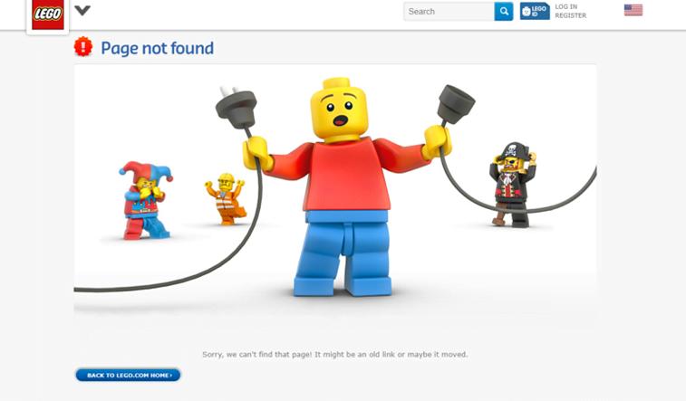 lego 404 page screenshot