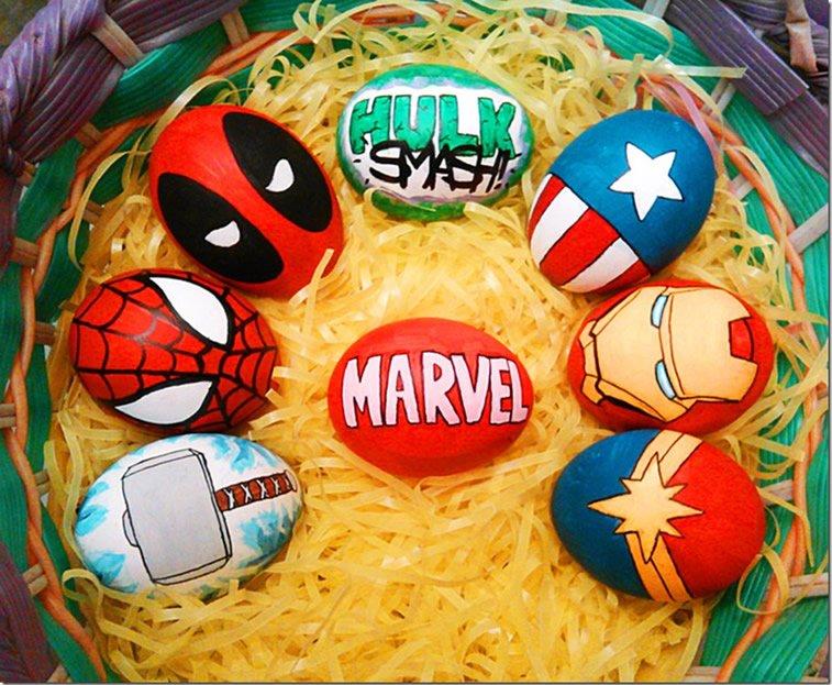 jaja u kostimima marvelovih junaka
