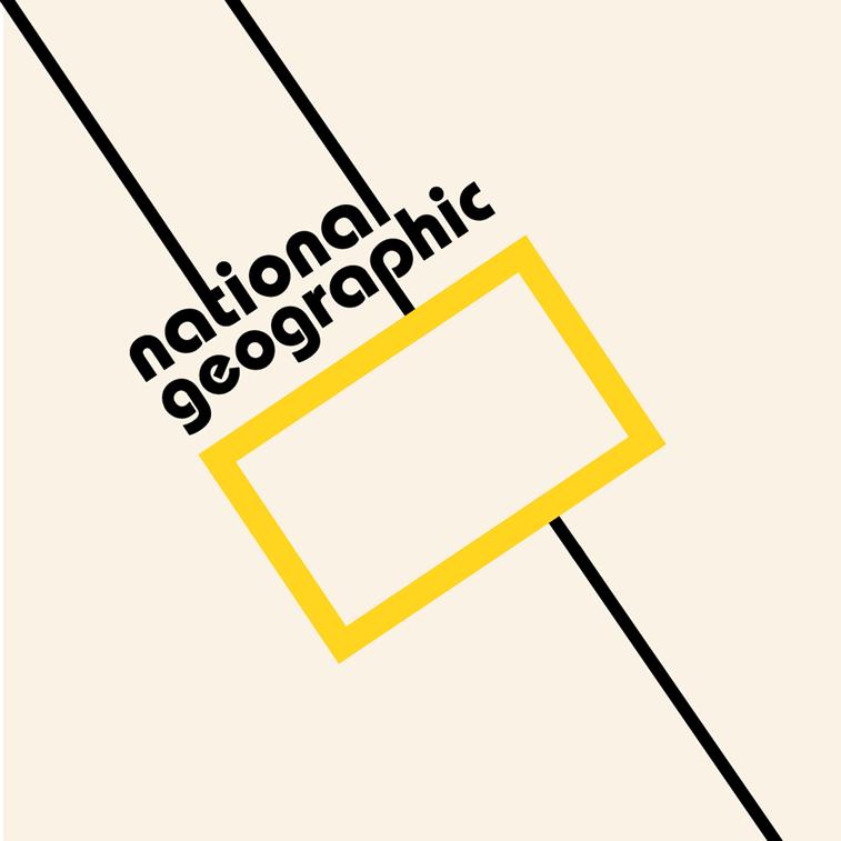 national graphic logo bauhaus stil