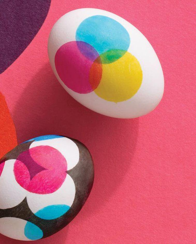 preklapanje boja na uskrsnjim jajima