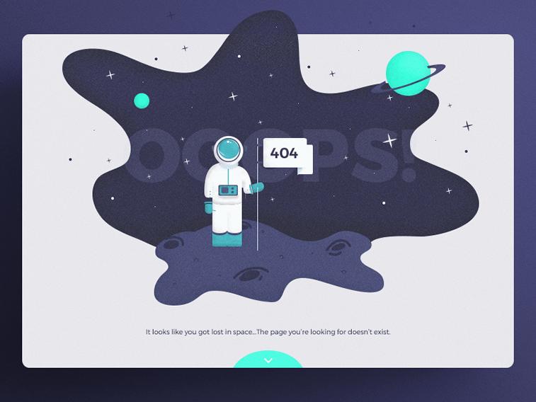 404 page design idea by popart studio