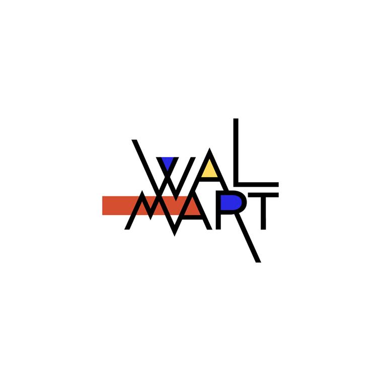 walmart logo u stilu bauhausa