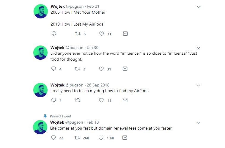 wojtek witkowski twitter account