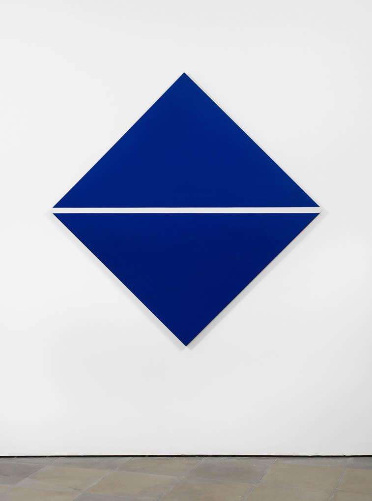 blue with white line carmen herrera