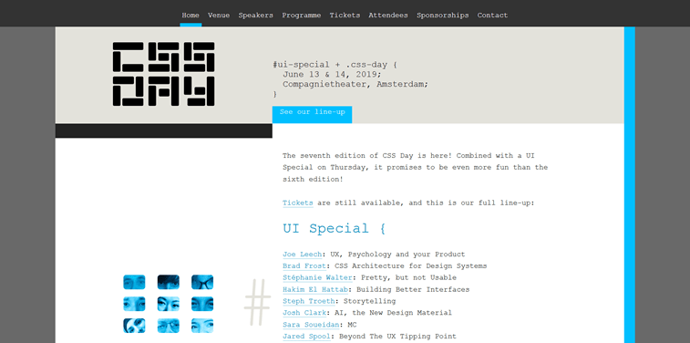 css day and ui special event homepage