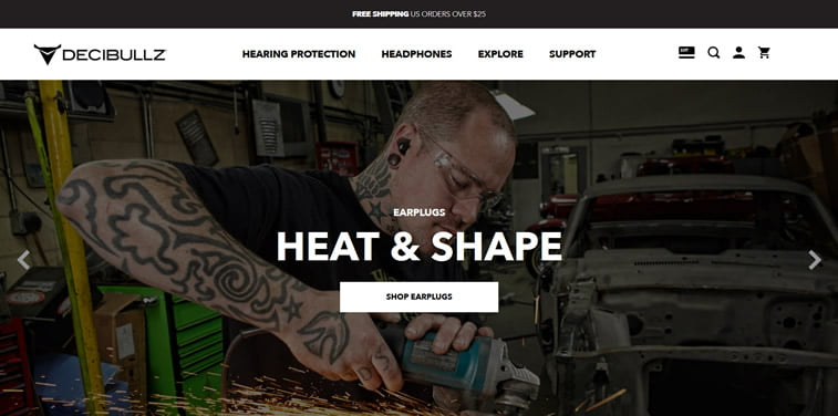 decibullz online store homepage
