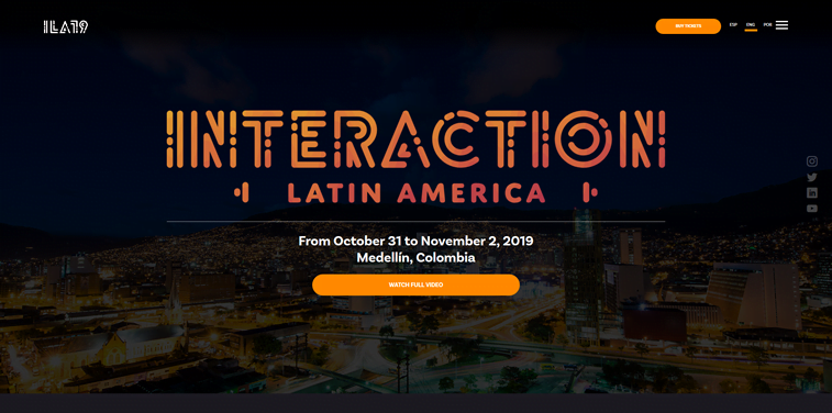 interaction latin america design conference homepage