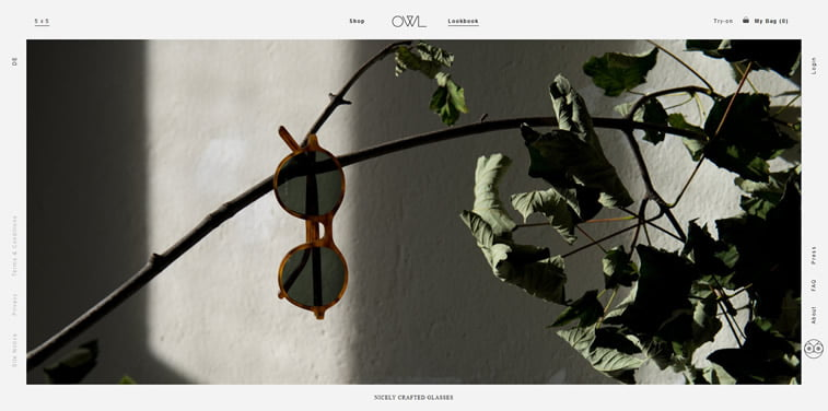 owl product page ecommerce sunglasses