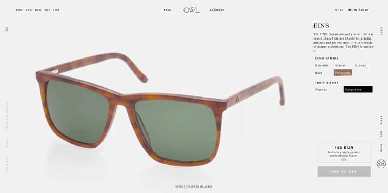 OWL online store single product page design