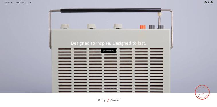 only once vintage transistor website design