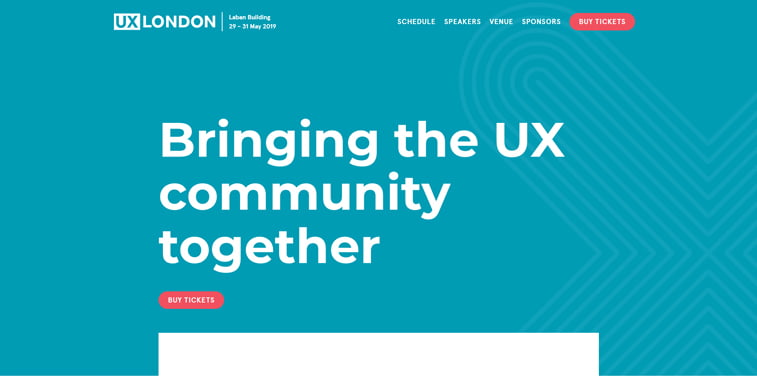 ux lonodn conference homepage