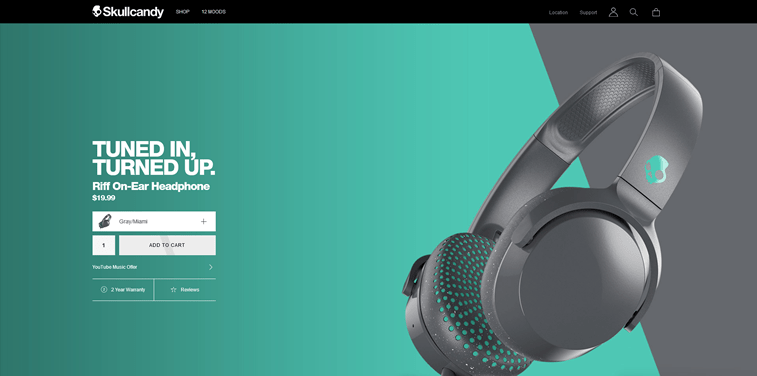 skullcandy product page headphone