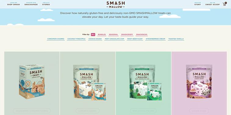 smash mallow prodcut page design